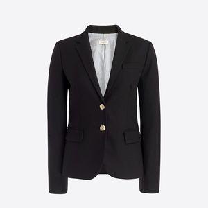 NWOT J. Crew Size 2 Black Schoolboy Blazer Jacket